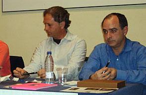 D. Octavio Leiro y D. Fabrice Torrito. Mayorales