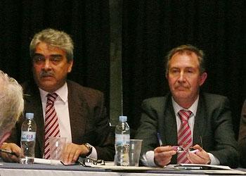 D. Juan José Niño y D. Justo Polo Ramos. Delegados gubernativos L