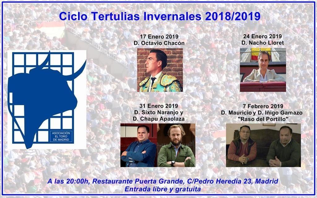 Segundo Ciclo de Tertulias Invernales 2018/2019