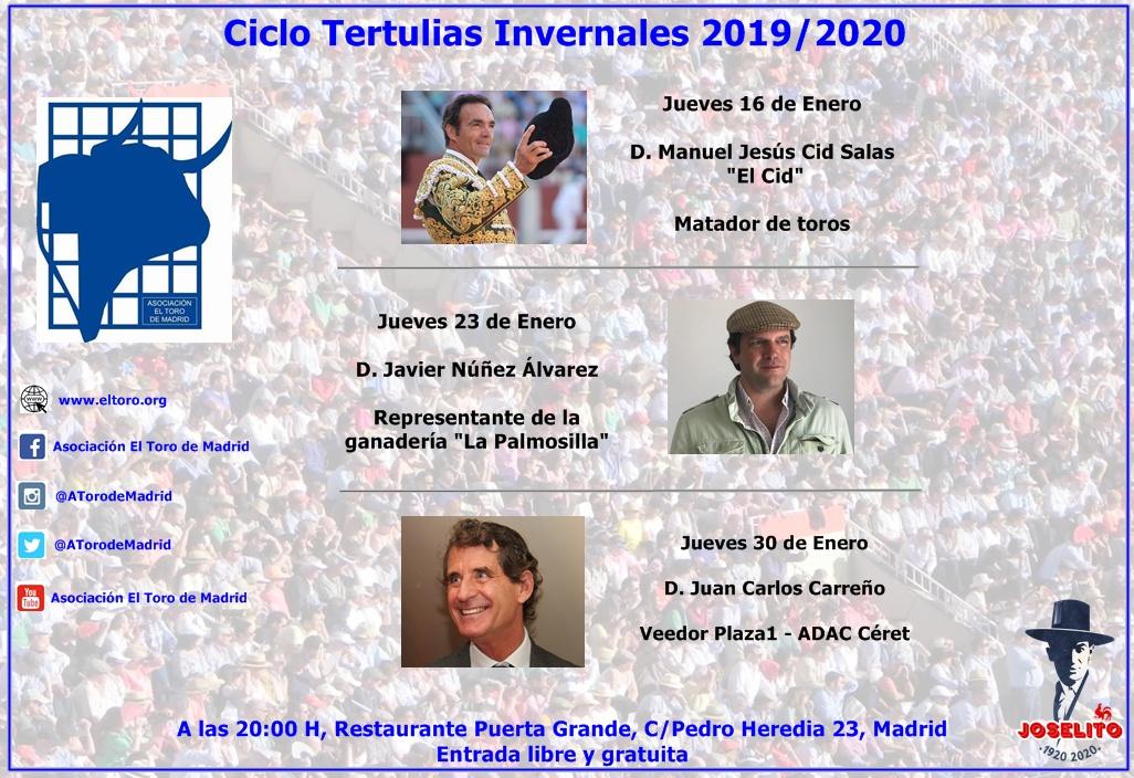 Ciclo Tertulias Invernales 2019/2020