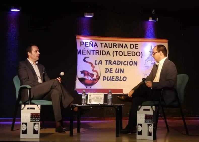 Nuestro socio Luis Blázquez en la Peña Taurina Méntrida