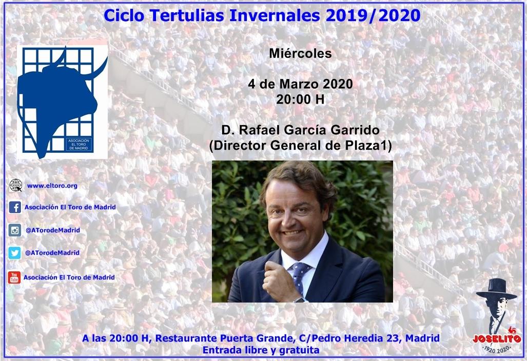 Tertulia con D. Rafael García Garrido, empresario de Las Ventas
