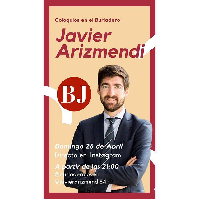 Nuestro socio Javier Arizmendi en el coloquio de Burladero Joven