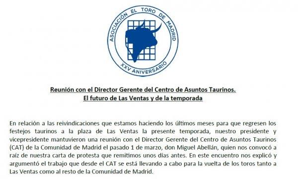 Reunión con el Director Gerente del CAT, D. Miguel Abellán